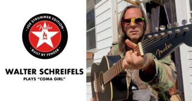 "Walter Schreifels Covers ""Coma Girl"" photo. Youtube - Fender"