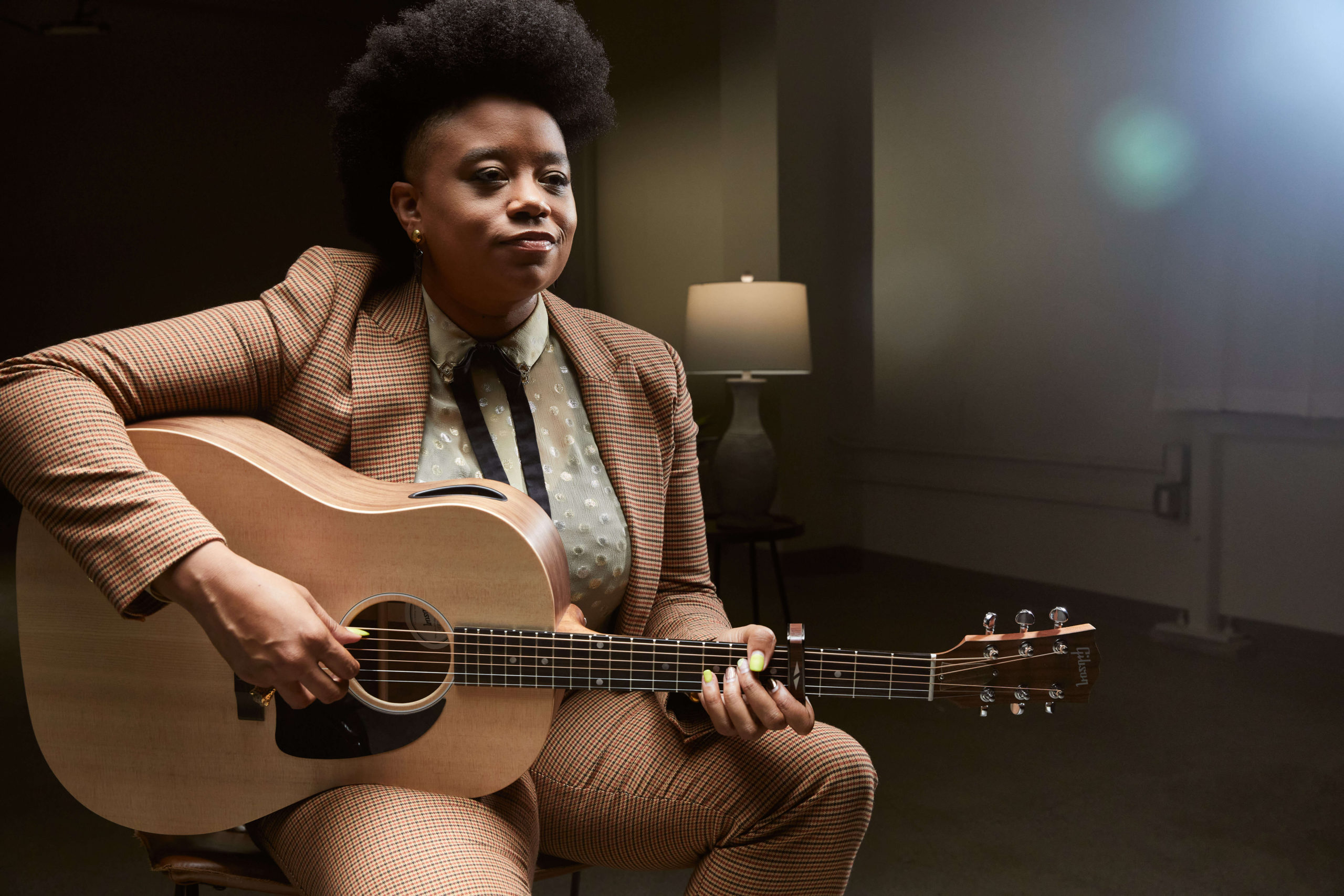 Amythyst Kiah with the Gibson Generation Collection G-45, credit: Gibson