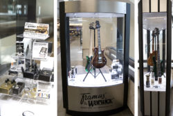 Framus & Warwick advertise in the Nashville International Airport